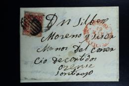 Spain: Complete  Letter  Santiago Ed. 24  Mi 26 , 1854 - Lettres & Documents