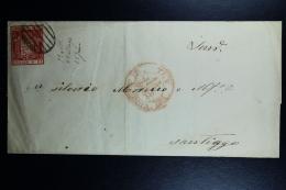 Spain: Cover De Tuy A Santiago Ed. 24  Mi 26 , 1854 - 1850-68 Regno: Isabella II