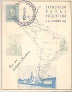 EXPOSICION NAVAL ARGENTINA AÑO 1944 TARJETA CARD Sold As Is RARISIME - Barche