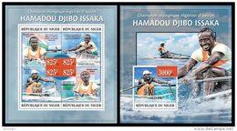 NIGER 2013 - H.D. Issaka, Rowing At London Olympics - YT 1881-4 + BF177; CV = 35 €