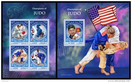 SIERRA LEONE 2016 - Judo, London Olympics, M/S + S/S. Official Issue.