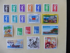 Mayotte : 20 Timbres Neufs