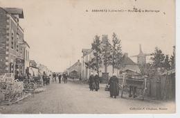 CPA Abbaretz - Route De La Meilleraye (avec Belle Animation) - Otros Municipios
