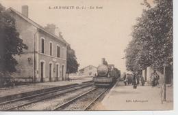 CPA Abbaretz - La Gare (avec Belle Animation Et Train En Gare) - Otros Municipios