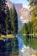 Lago Di Braies - Verso La Croda Del Becco -102t - Formato Grande Viaggiata - E - Trento