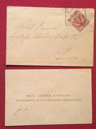 BIGLIETTO DA VISITA DR.ANGELO BARSANTI  1856- 1920 PIEVE DI CONTRONE BAGNI DI LUCCA - Cartoncini Da Visita