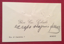 BIGLIETTO DA VISITA CAV.GABRIELLO GHERI  DEL 29/12/1932 Con Notebautografe - Cartoncini Da Visita