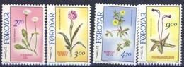 #Faroe Islands 1988. Flowers. Michel 162-65. MNH(**). - Islas Faeroes