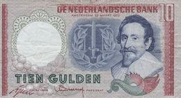Netherlands 10 Gulden 1953 F P-85 - Paises Bajos