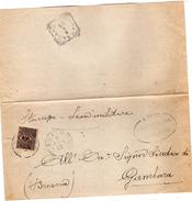 1906  LETTERA CON ANNULLO CASALMORO MANTOVA - Storia Postale