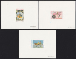 Cameroun 1986 Insects. Set Of 3 Deluxe Proofs. Scott 807-9. Yvert 783-5. - Camerun (1960-...)