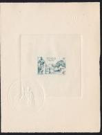 Togo 1947 4,00Fr Atakpamé Village. Deluxe Proof. Scott 320. Yvert 247.