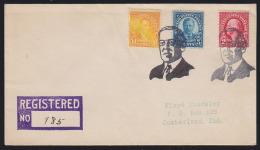 USA 1931 Fancy Cancel - Woodrow Wilson. 2 Strikes In Black On Registered Letter From Wilson, NE. - Other