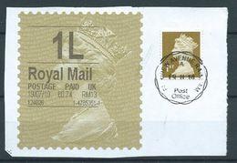 GROSSBRITANNIEN GRANDE BRETAGNE GB 19-07-10 1L ROYAL MAIL GOLD HORIZON (TYPE I) (THIN FONT) - Universal Mail Stamps