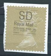 GROSSBRITANNIEN GRANDE BRETAGNE GB 26-10-2010 SD ROYAL MAIL GOLD HORIZON (TYPE I) - Universal Mail Stamps
