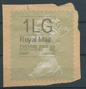 GROSSBRITANNIEN GRANDE BRETAGNE GB 27-08-10 1LG ROYAL MAIL GOLD HORIZON (TYPE I) (THIN FONT) - Universal Mail Stamps
