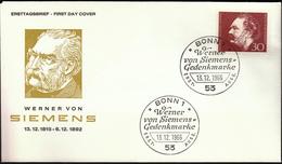 Germany Bonn 1966 / Werner Von Siemens / Pioneer Of The Electro Industry - Celebrità