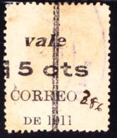 Nicaragua 1911 5c On 10c On 1 RR Stamp Overprinted On Back. Scott 289B, Used. - Nicaragua