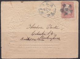 USA Civil War Embossed Patriotic Cover To Buckingham, PA. Fancy Cancel On 3c Washington Scott 65. - Postal History
