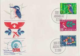 SWITZERLAND 1966 FDC With Kingfisher - Non Classés