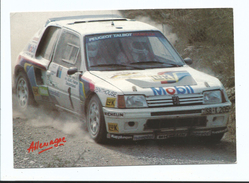 Peugeot Champion D' Allemagne  205 Turbo 16 -  PILOTE Mouton / Harryman - Cpm Ed Peugeot - 1988 - Rally Racing