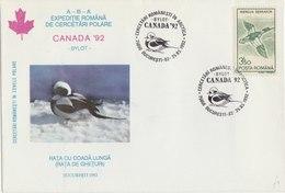 ROMANIA 1992 Cover Expedition Arctica