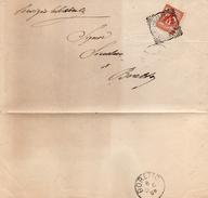 1908 LETTERA  CON ANNULLO GUALTIERI REGGIO EMILIA + BORETTO - Storia Postale