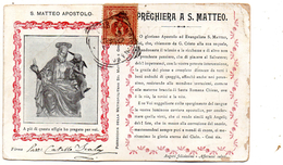 1902 CARTOLINA CON ANNULLO CASTELLAMMARE DI STABIA NAPOLI - Storia Postale