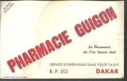 BUVARD Pharmacie GUIGON à DAKAR - Produits Pharmaceutiques