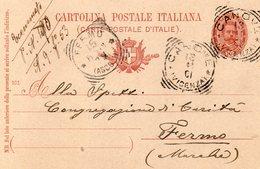 1901  CARTOLINA CON ANNULLO CANOVE VICENZA - Storia Postale