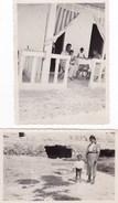 CAGLIARI - LOTTO DI DUE FOTO DEL 1937 - POETTO ED ANFITEATRO ROMANO CON DIDASCALIA SUL RETRO - Lieux