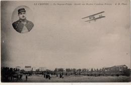 Le  CROTOY Le Sapeur Pilote Strohi Sur Biplan Caudron Frères - Le Crotoy