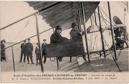Ecole D Aviation Des Frères Caudron Au Crotoy Souvenir Du Voyage De M Le Sénateur Maquennehen Crotoy  Cayeux Crotoy - Le Crotoy