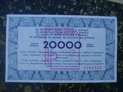 Serbia-Strpce-20000dimara-150x90mm-2002  (3736) - Billets