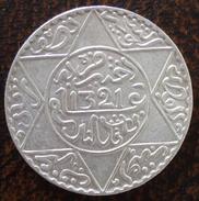 (J) MOROCCO: Silver 5 Dirhams 1903 AU (AH1321Ln) (898) SALE!!!!! - Maroc