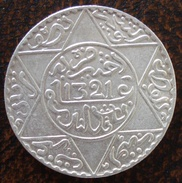 (J) MOROCCO: Silver 5 Dirhams 1903 AU (AH1321Ln) (898) SALE!!!!! - Marruecos