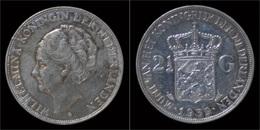 Netherlands Wilhelmina I 2 1/2 Gulden(rijksdaalder)1939 - [ 8] Monedas En Oro Y Plata