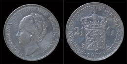 Netherlands Wilhelmina I 2 1/2 Gulden(rijksdaalder)1930 - [ 8] Monedas En Oro Y Plata