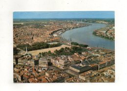(33) BORDEAUX - Vue Générale Du Grand-Théatre Et La Place Des Quinconces Le Port Au Fond Le Nouveau Pont Suspendu 1970 - Bordeaux