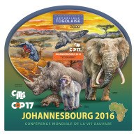 TOGO 2016 ** Rhinoceros Nashorn COP17 CITES Johannesburg S/S - OFFICIAL ISSUE - A1705