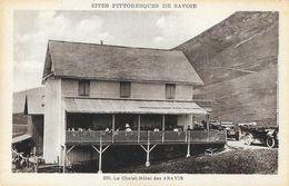 Le Chalet-Hôtel Des Aravis - Sites Pittoresques De Savoie - Vieilles Voitures - Carte Non Circulée - Hotels & Restaurants