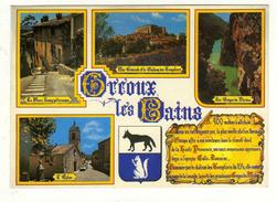 Cpm N° EN 77 GREOUX LES BAINS Multi Vues - Gréoux-les-Bains