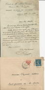 ILLIERS ETUDE ALBERT GERVAIS HUISSIER LETTRE ET ENVELOPPE ANNEE 1921 - Sin Clasificación