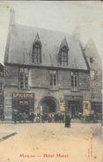 Moulins - Café Et Hôtel Moret (Epicerie) - Photo Marnas - Carte Colorisée, Non Circulée - Hotels & Restaurants