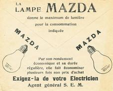 745/24 - Belgium TOPIC Eclairage Lampe MAZDA  - Enveloppe Chèques Postaux 1934 Illustrée - Timbres