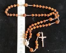 Ancien Chapelet En Argent ,perles En Corozo, Vers 1880, Superbe - Religión & Esoterismo