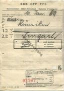 Schweiz - Beamtenbillet 1959 Für Eine Person Von Rümikon Nach Zurzach - Bahn
