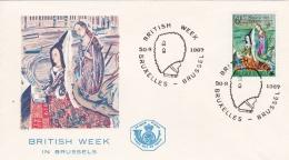 Belgium FDC 1967 British Week In Brussels  (C102) - FDC