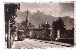 Suisse Bex Croix De Javerne Et Dents De Morcles Carte Rare Cpa Animée Tram Tramway Timbre + Cachet Bex 1928 - VD Vaud