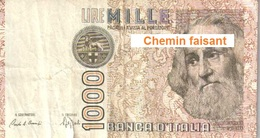 Billet 1000 Lires Italie - [ 2] 1946-… : Républic